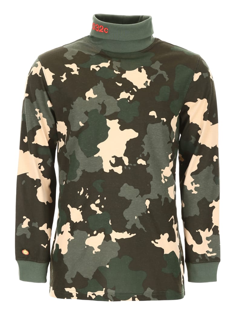 032c Camouflage Long-sleeved T-shirt - CAMOUFLAGE (Green)