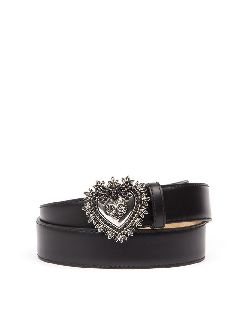 Dolce & Gabbana Black Leather Belt - Black