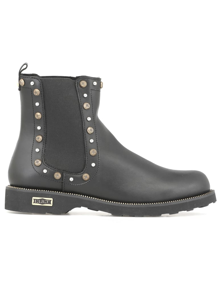 Cult Leather Chelsea Boot - BLACK