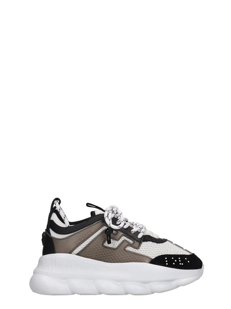 Versace Chain Reaction Sneakers In White Tech/synthetic - white