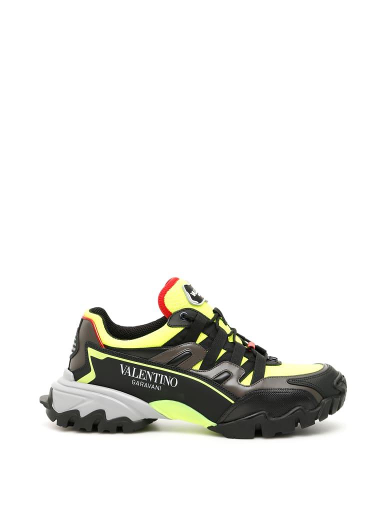 Valentino Garavani Climbers Sneakers - NERO GRAPHIT NERO ROUGE PUR GREY (Yellow)