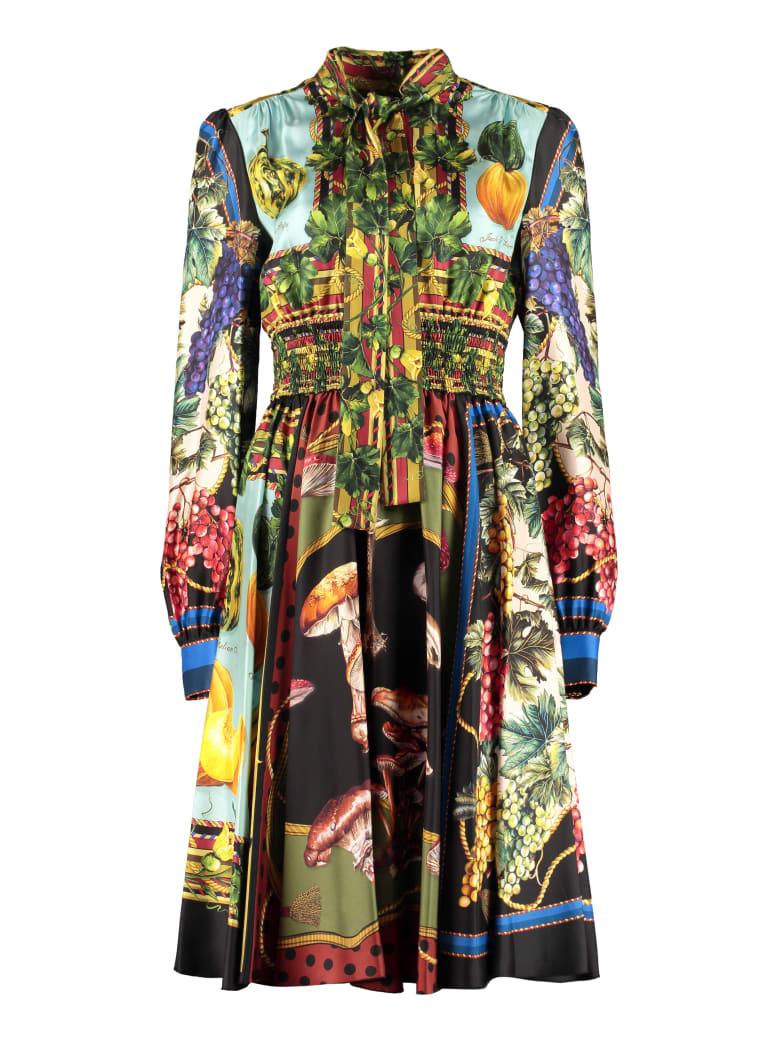 Dolce & Gabbana Printed Silk Dress - Multicolor