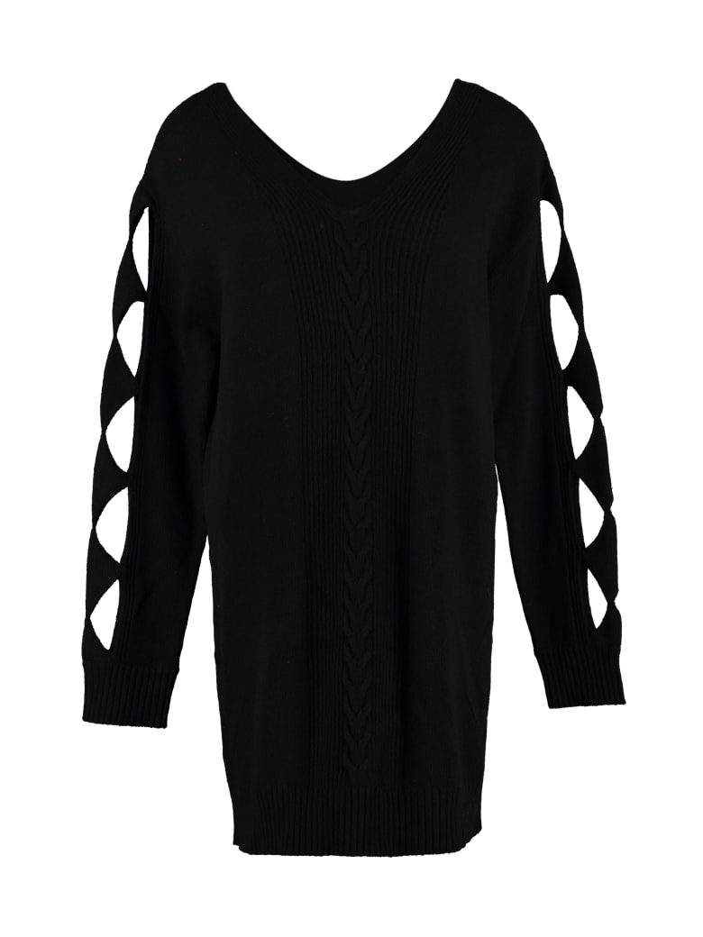 Boutique Moschino Cut-out Details Sweater Dress - black