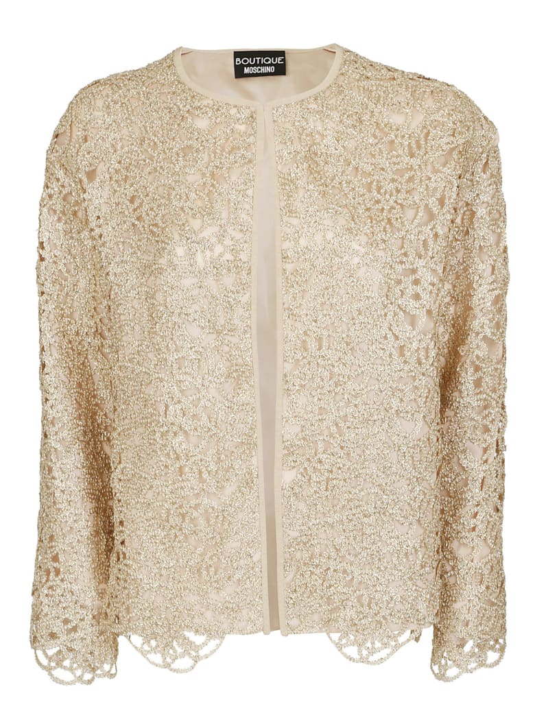 Boutique Moschino Metallic Cut Out Jacket - Gold