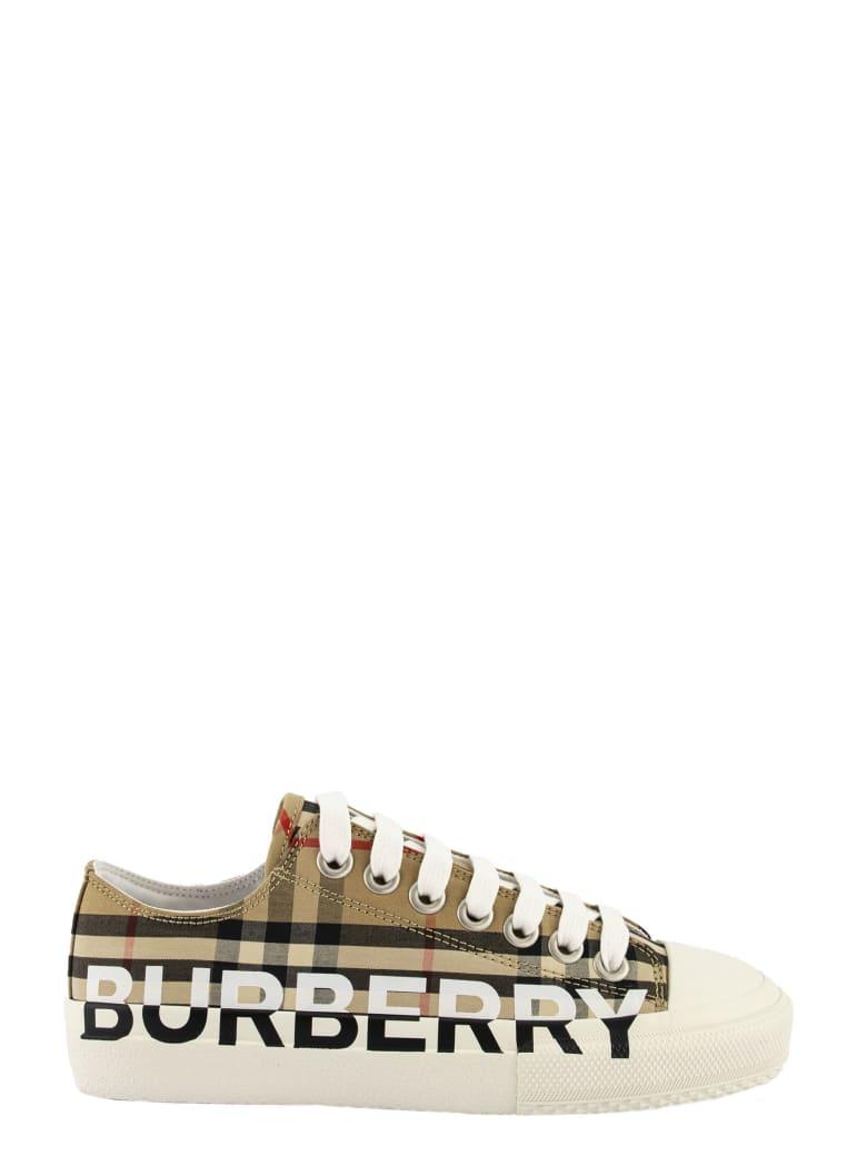 Burberry Logo Print Sneakers Larkhall Arc.beige - Archive Beige