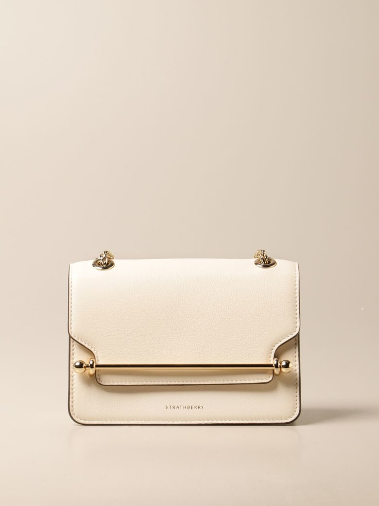 Strathberry Mini Bag East/west Mini Strathberry Leather Bag - Yellow Cream