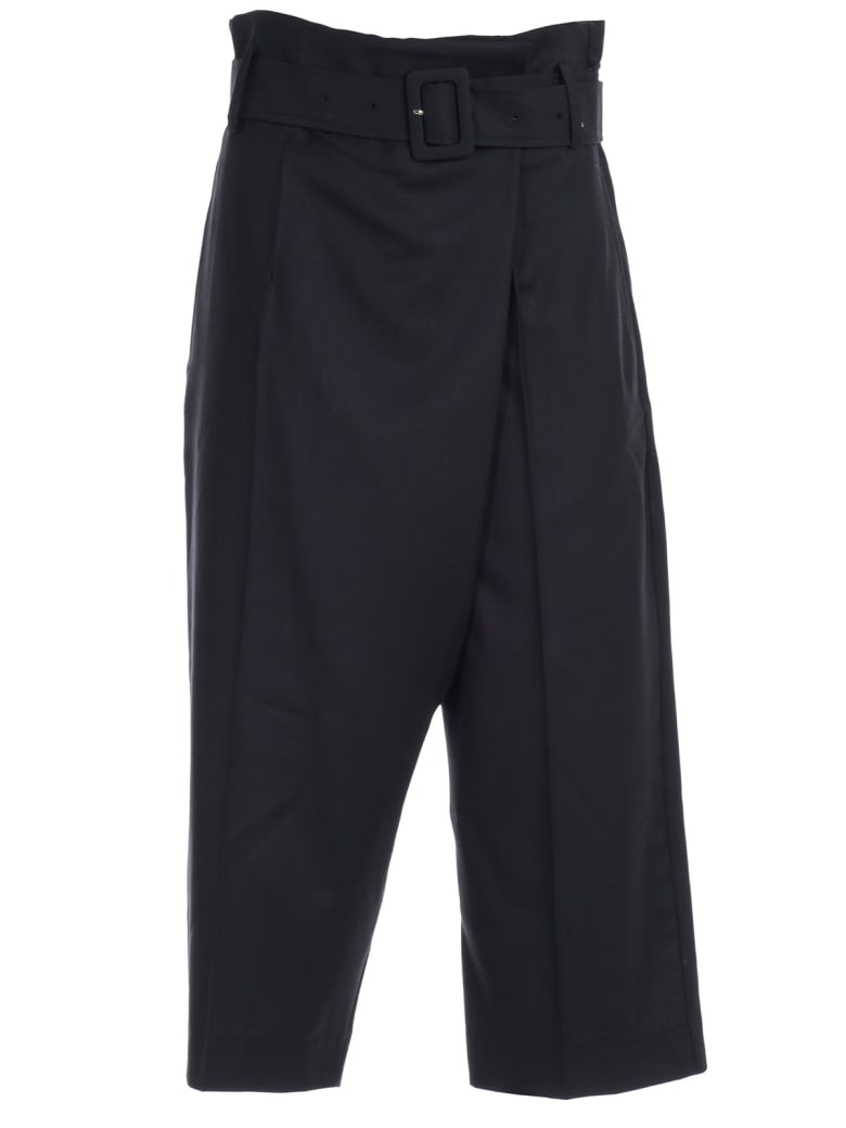 Eudon Choi Pants High Waist W/belt - Navy