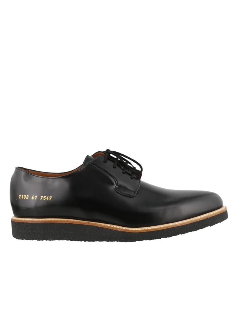 Common Projects Derby Shine Laced Up Shoes - Black