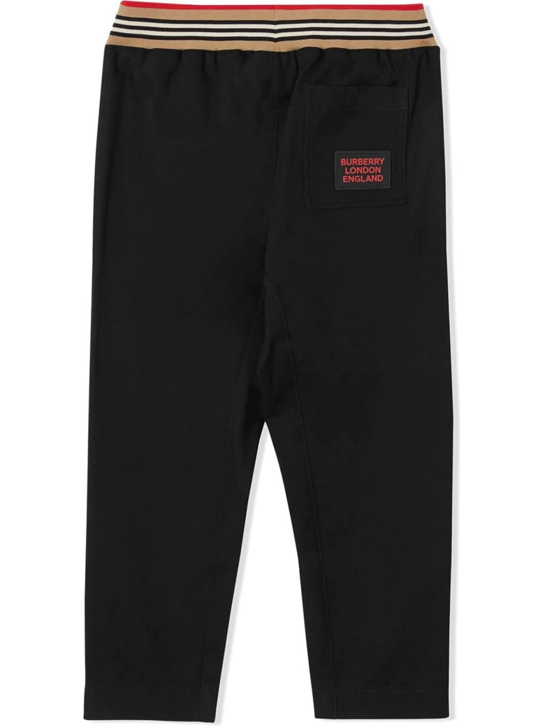 Burberry Black Cotton Trackpants - Nero