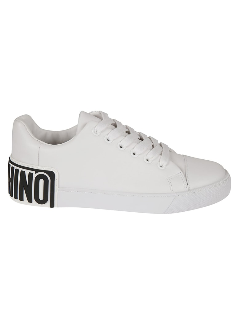 Moschino Back Logo Low-top Sneakers - White