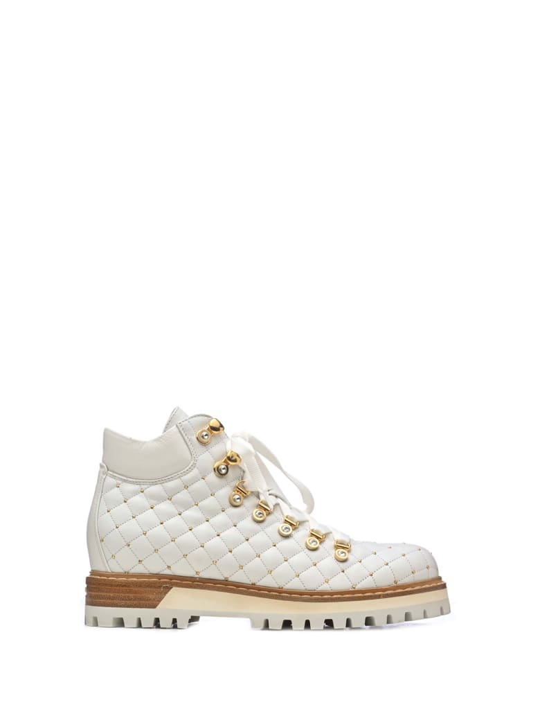 Le Silla Le Silla Quilted Ankle Boots - BIANCO