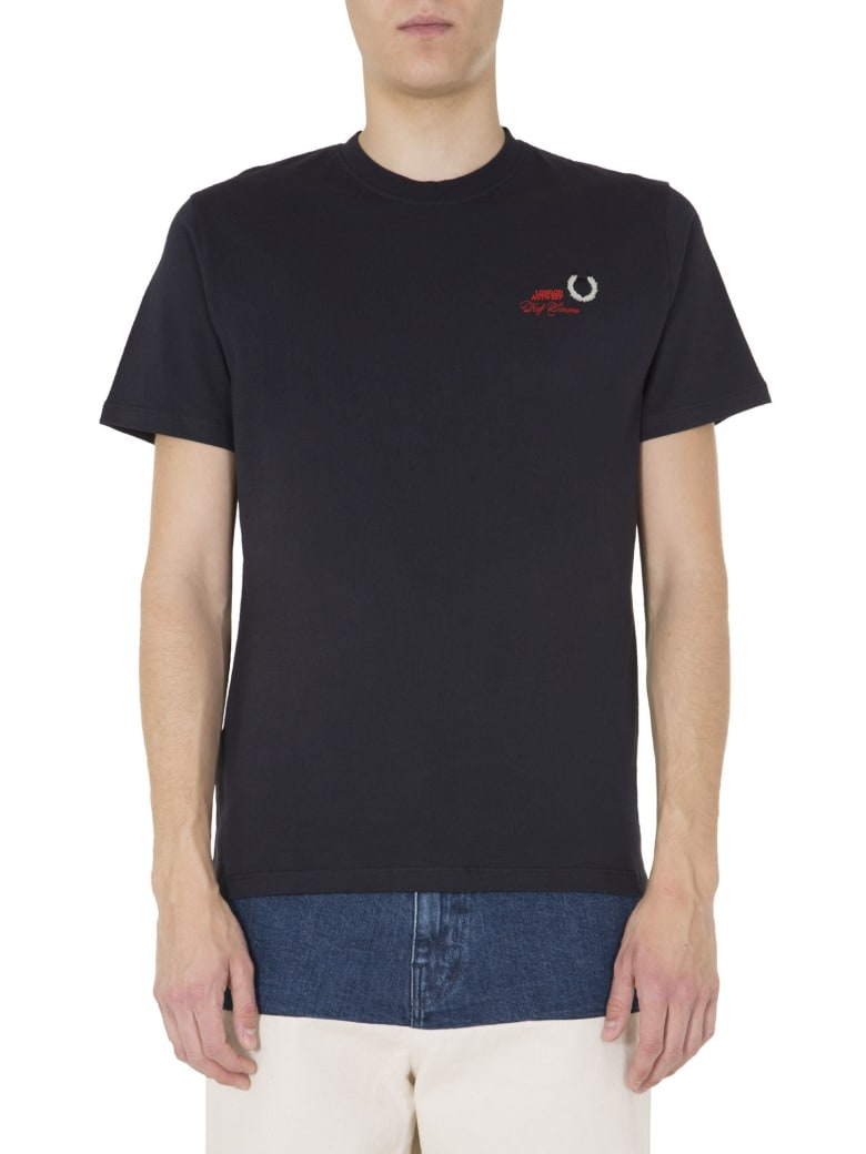 Fred Perry by Raf Simons Round Neck T-shirt - BLU