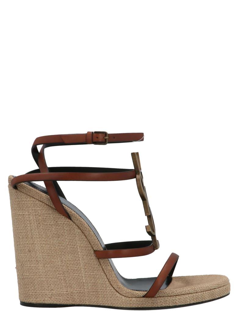 Saint Laurent 'cassandra' Shoes - Beige