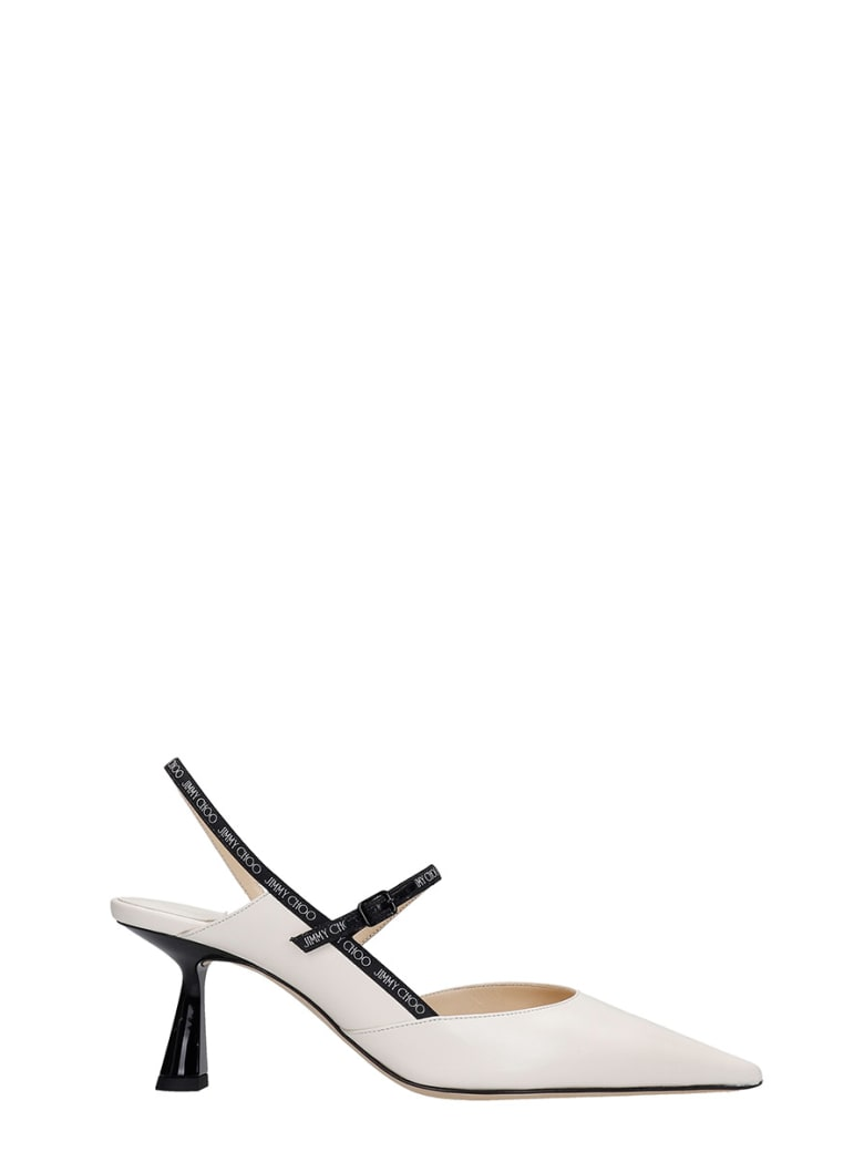 Jimmy Choo Ray 65 Pumps In White Leather - white