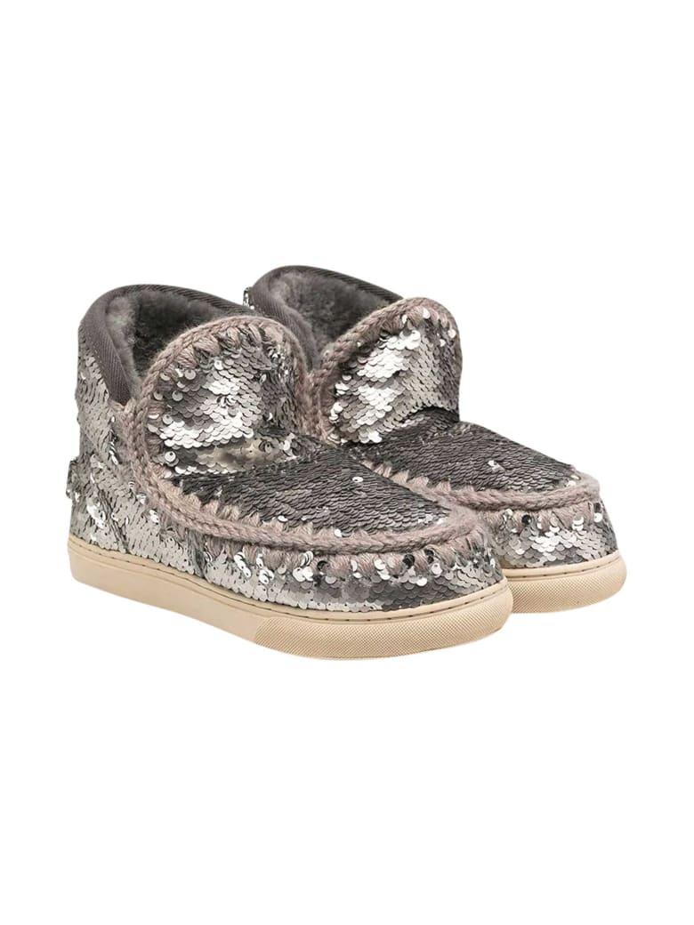 Mou Silver Teen Eskimo Boots - Silver