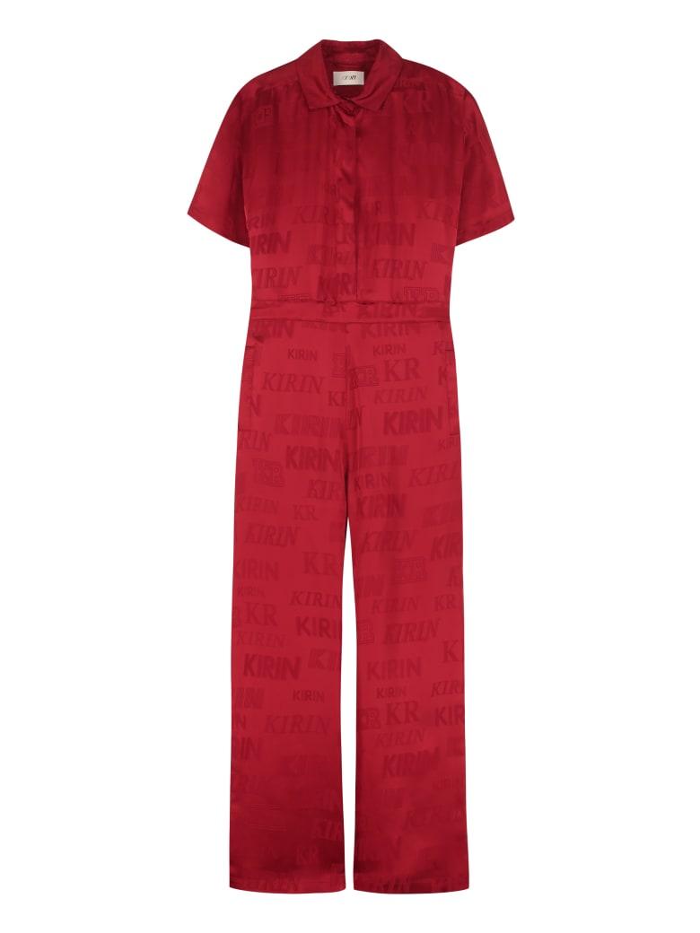 Kirin Wide-leg Pants Jumpsuit - red
