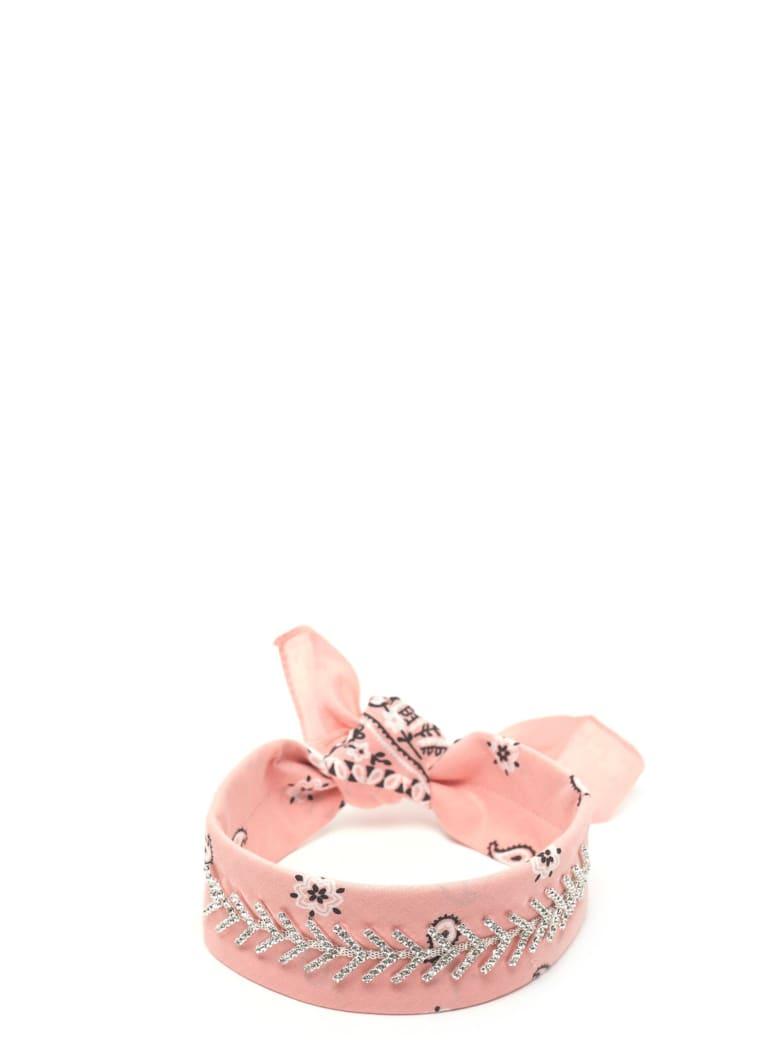 Fallon 'monarch Diamante' Chocker - Pink
