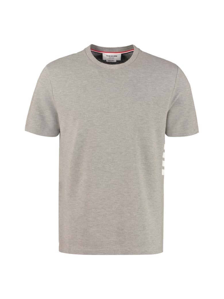 Thom Browne Cotton Piqué T-shirt - grey