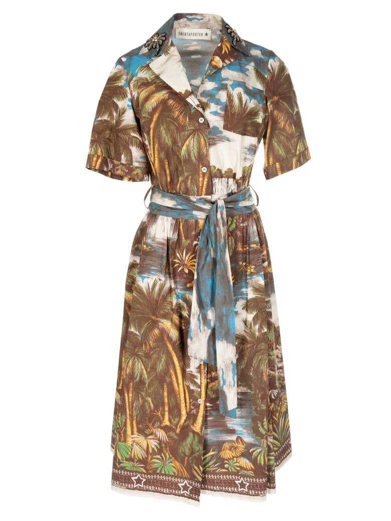 Shirt a Porter Jungle Print Shirt Dress