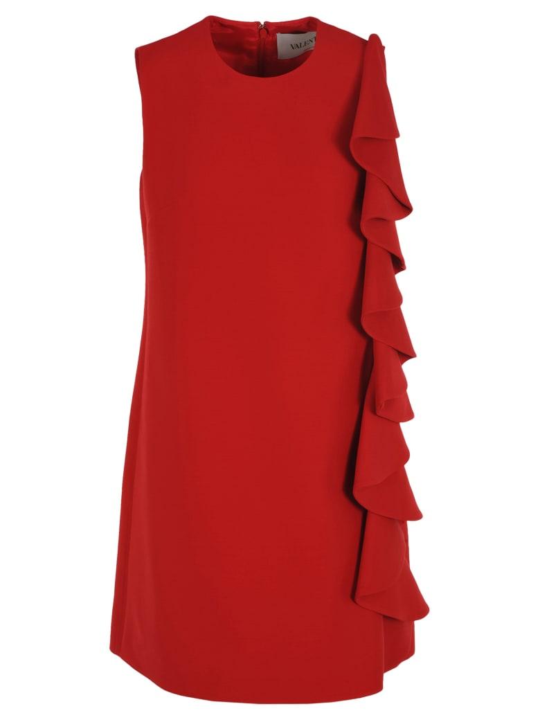 Valentino Ruffled Dress - RED