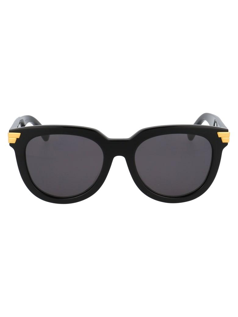 Bottega Veneta Bv1104sa Sunglasses - 001 BLACK BLACK GREY