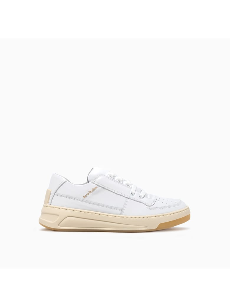 Acne Studios Steffey Lace Up Sneakers Ad0257-anc370 - WHITE