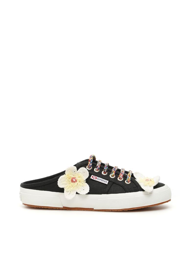 Alanui Superga Sneaker Mules - BLACK MULTI (Black)