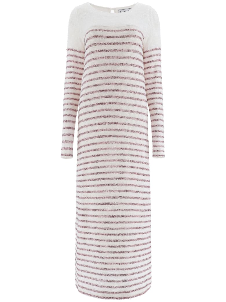 In The Mood For Love Beth Sequined Dress - WHITE BURGUNDY (White)