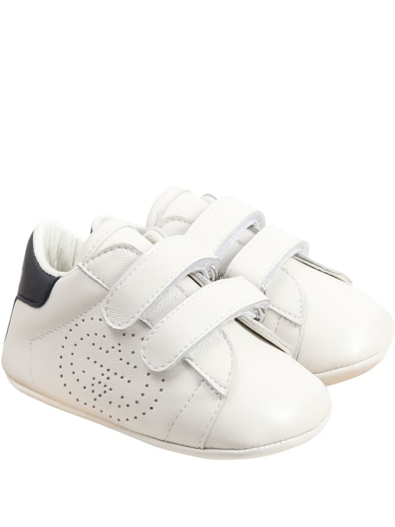 Gucci White Sneakers For Babykids - White