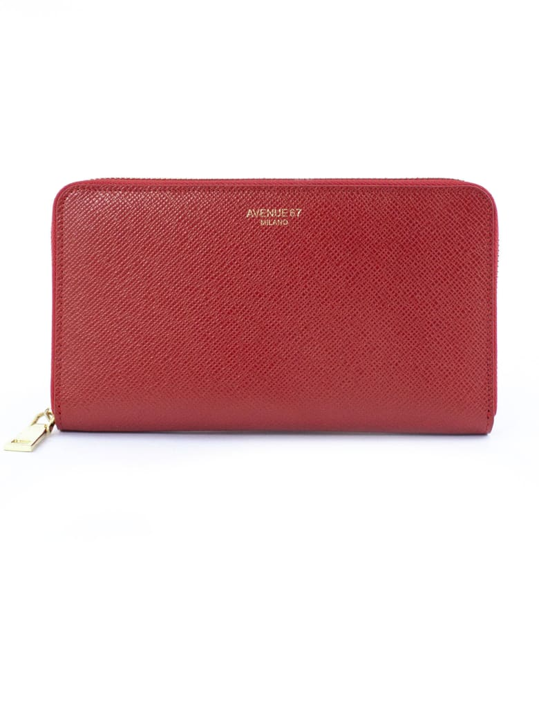 Avenue 67 Red Leather Wallet - Rosso