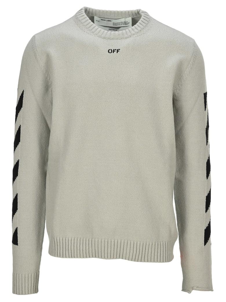 Off-White Off White Diagonal Knitwear - LIGHT GREY