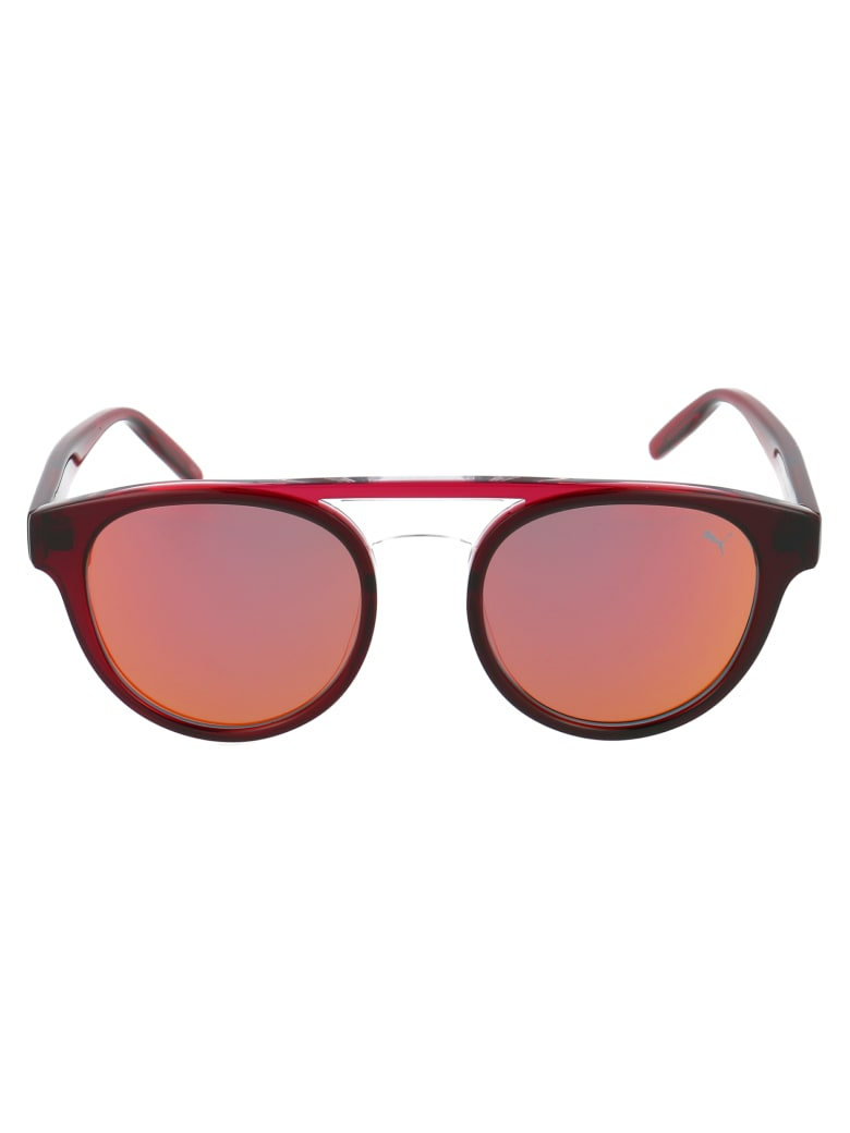 Puma Sunglasses - Grey Red Red