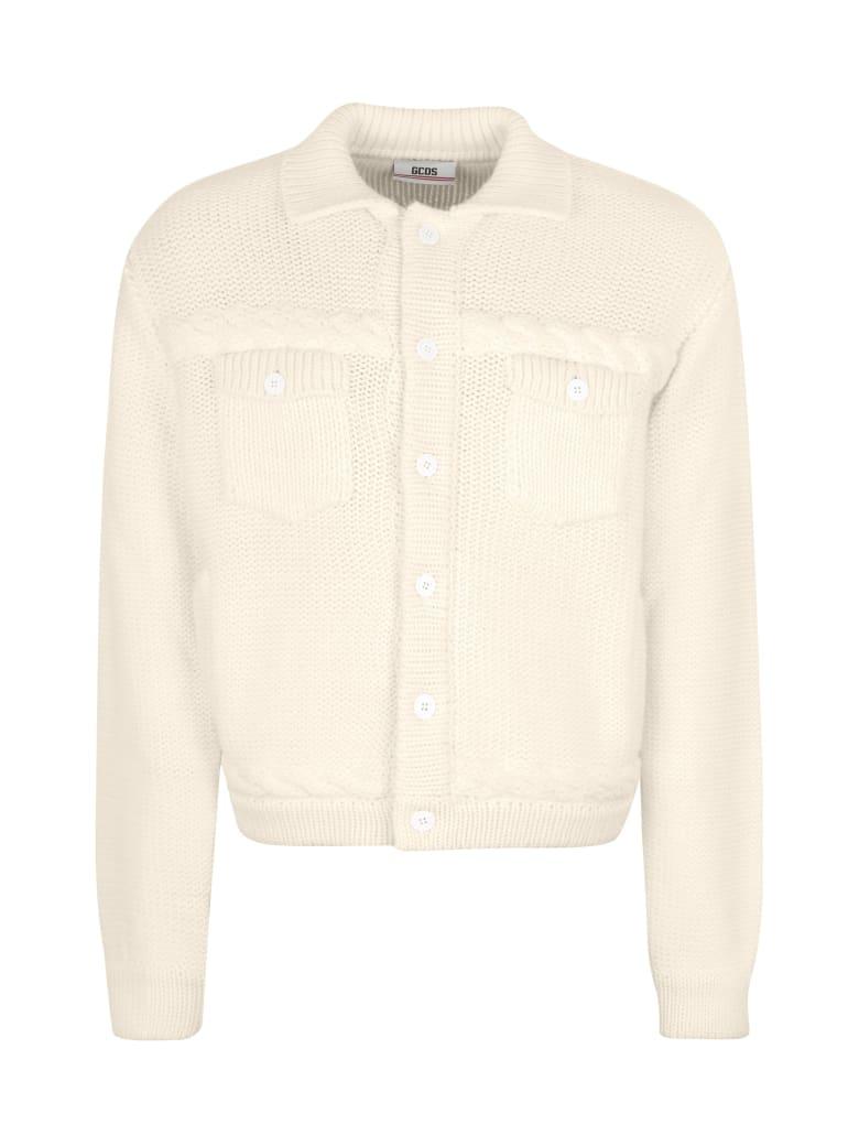 GCDS Knitted Jacket - panna