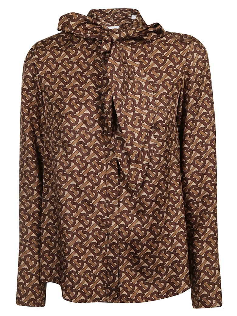 Burberry Florish Blouse - Bridle Brown Ip Pttn