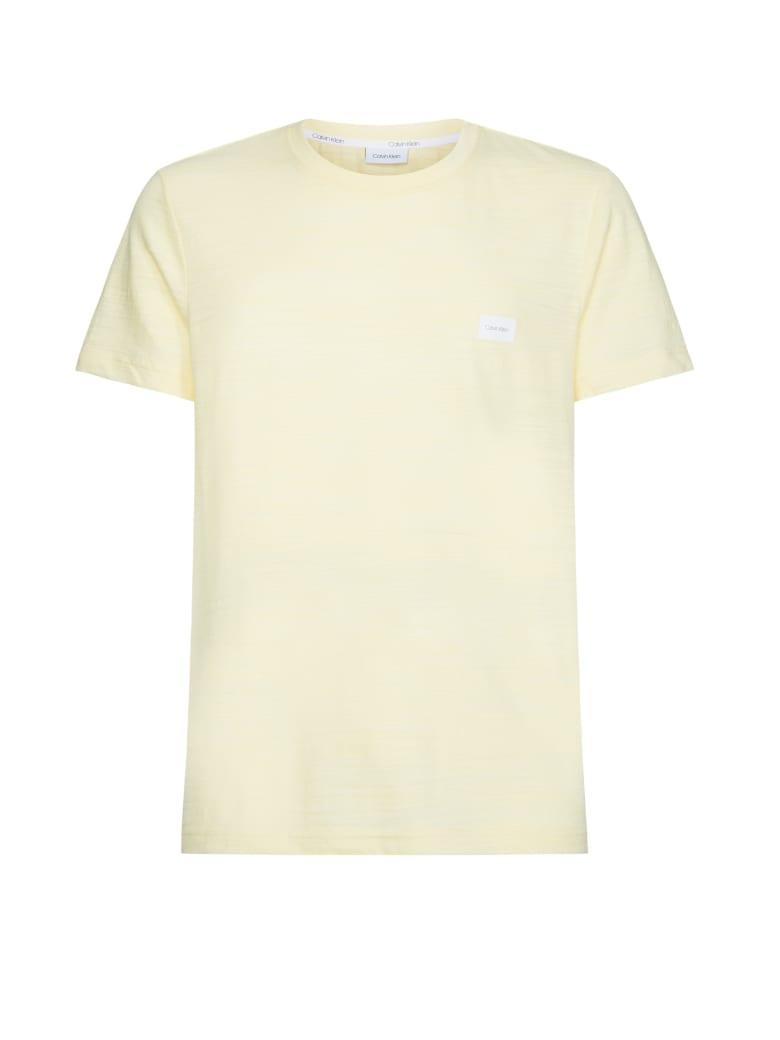 Calvin Klein Calvin Klein Logo Patch T-shirt - GIALLO PASTEL