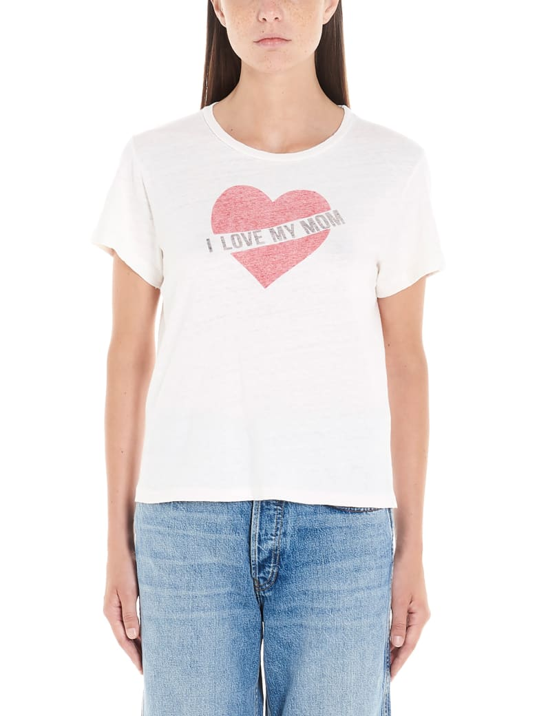 RE/DONE 'i Love My Mom' T-shirt - White