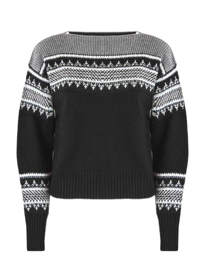 Philosophy di Lorenzo Serafini Black Merino Wool Sweater - Fant nero