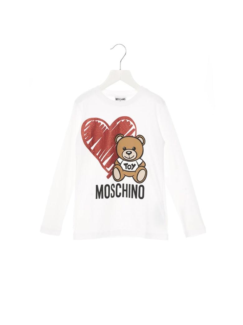 Moschino 'teddy Cuore' T-shirt - White