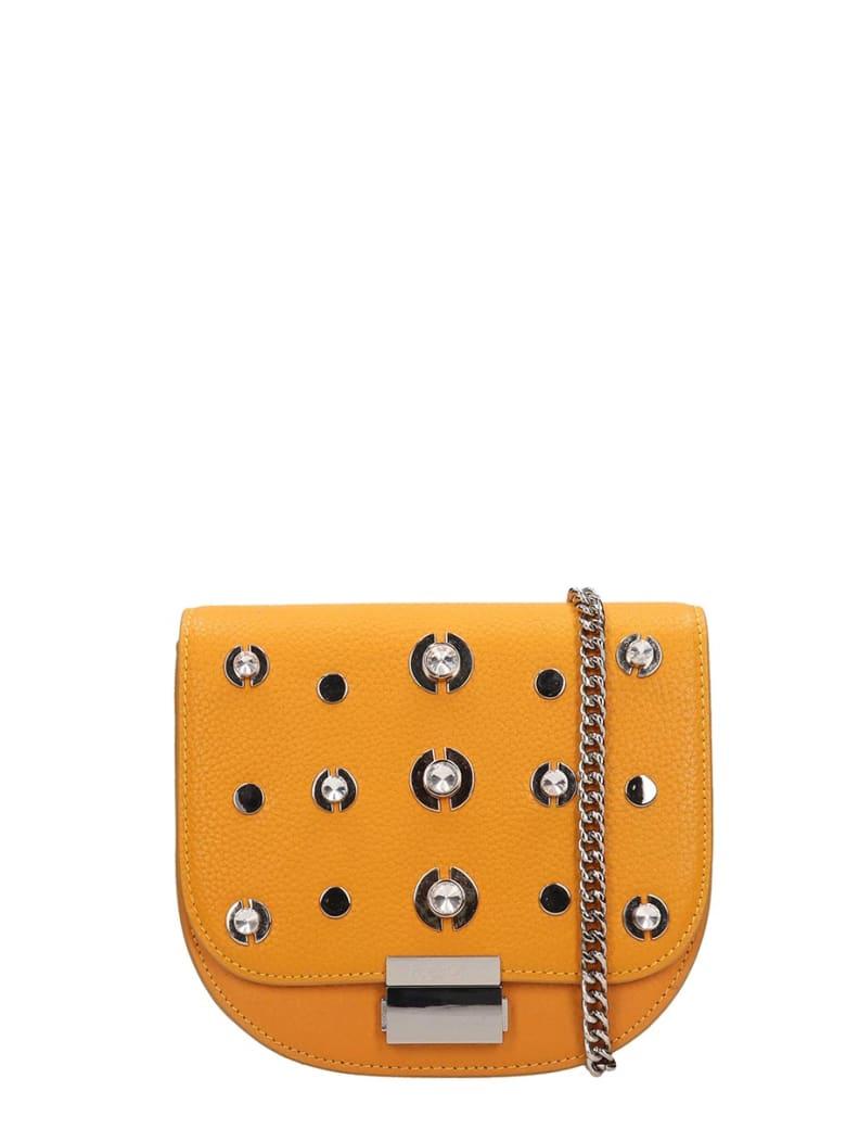 Lola Cruz Guss Yellow Leather Bag - yellow