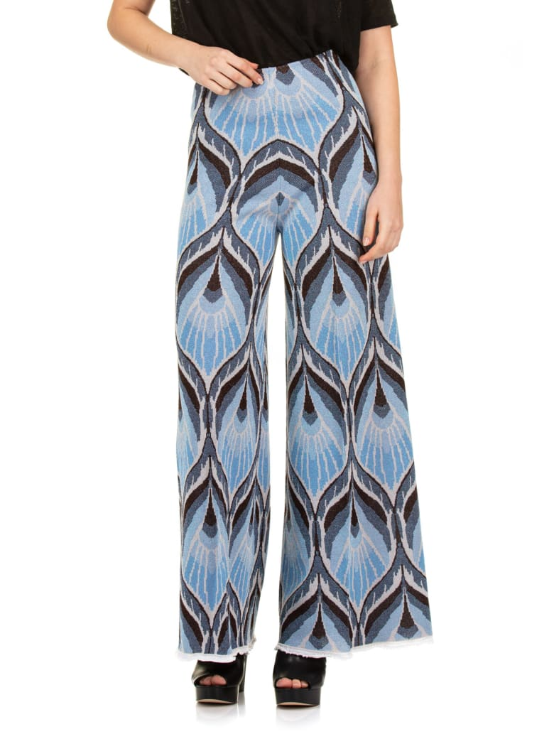 Circus Hotel L Leg Pants - Light blue