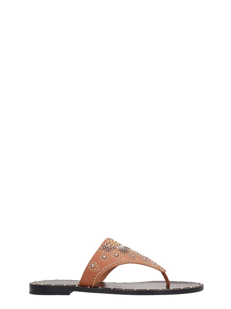 Lola Cruz Browne Leather Flats Sandals - leather color