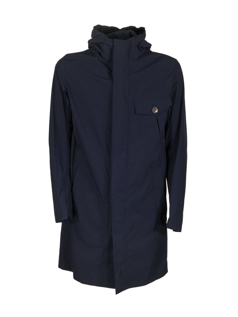 Herno Medium Length Jacket - Blue