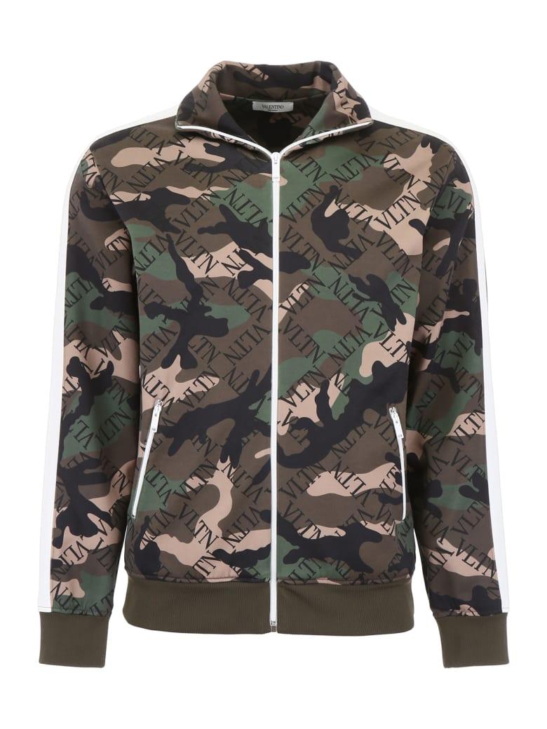Valentino Vltn Grid Camouflage Track Jacket - CAMOU ARMY NERO (Khaki)