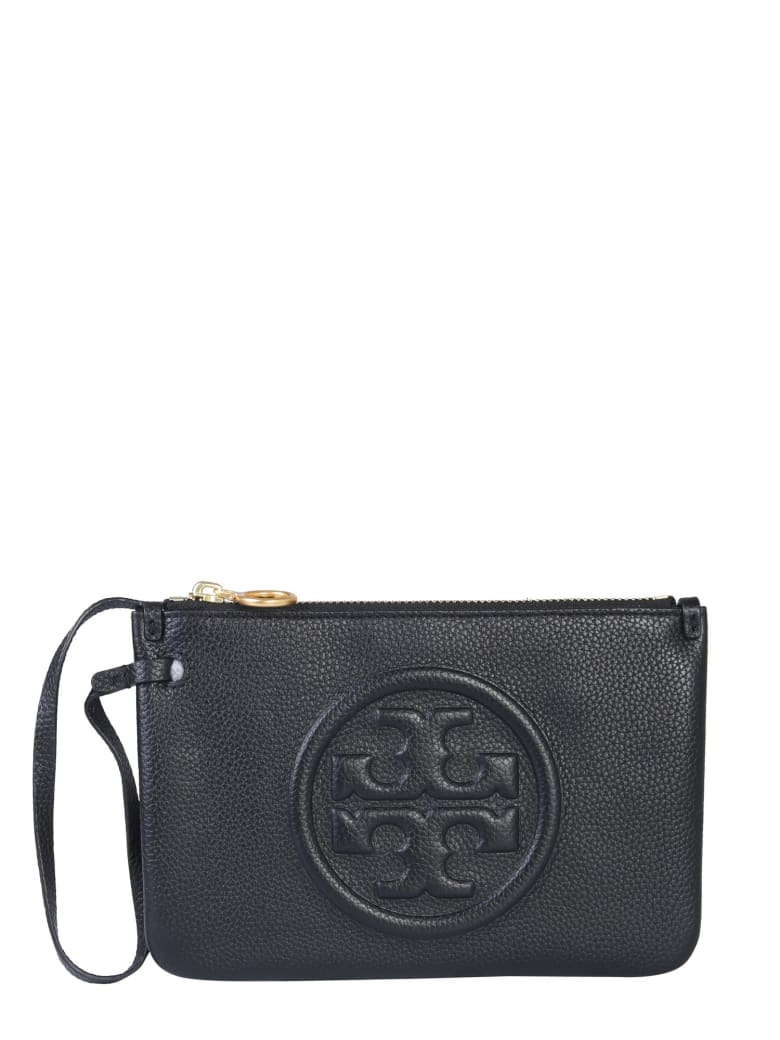 Tory Burch Perry Bombe Clutch - NERO