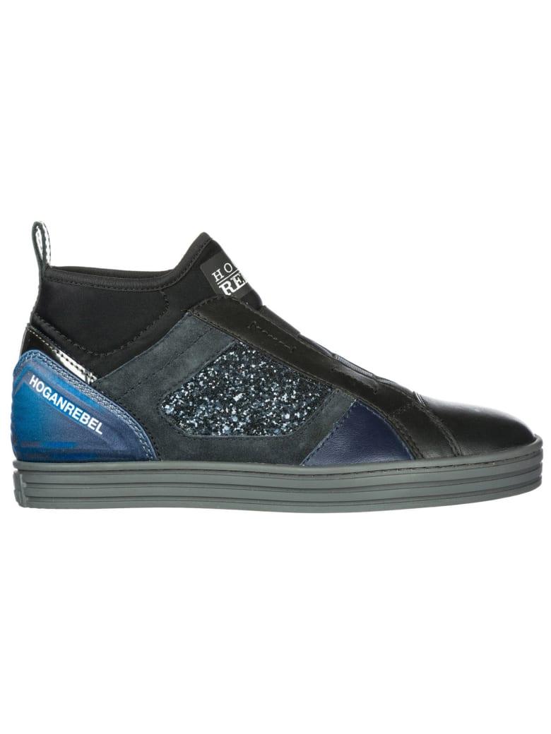 Hogan Rebel R182 Slip-on Shoes - Nero
