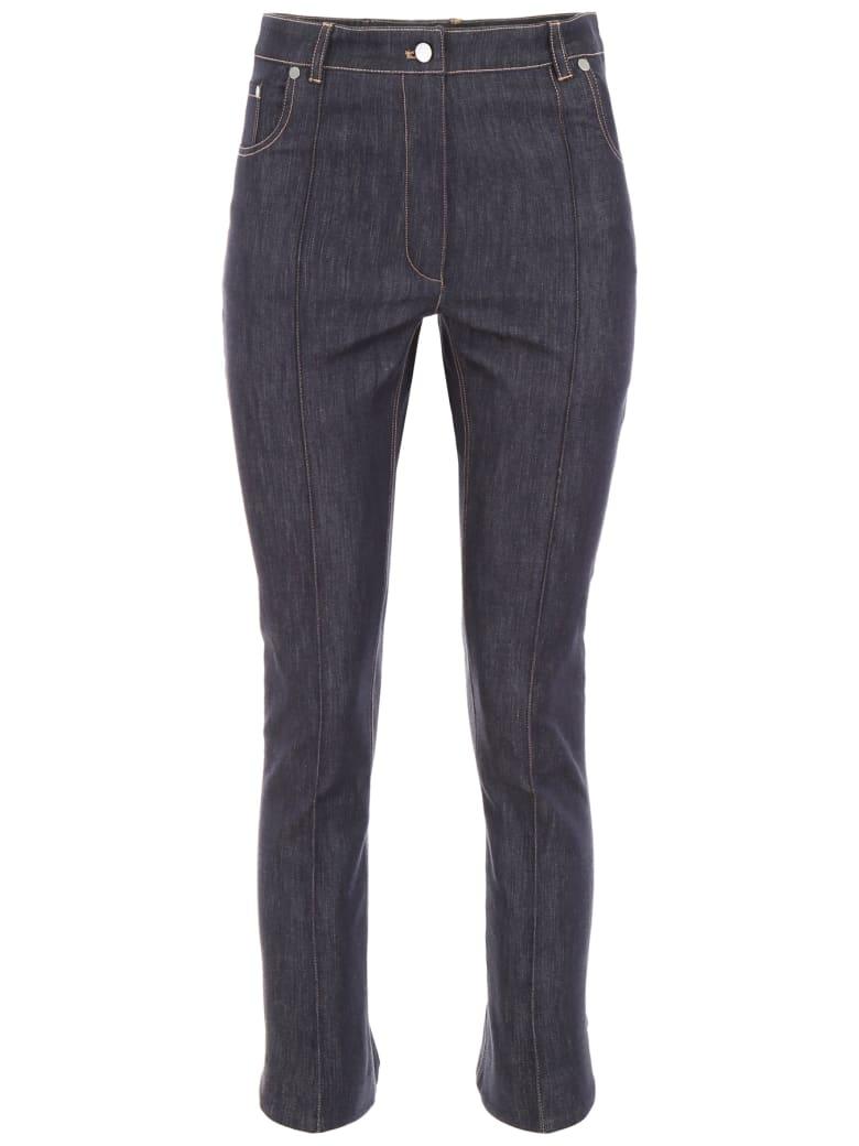 Rokh Jeans With Flared Hem - INDIGO (Blue)