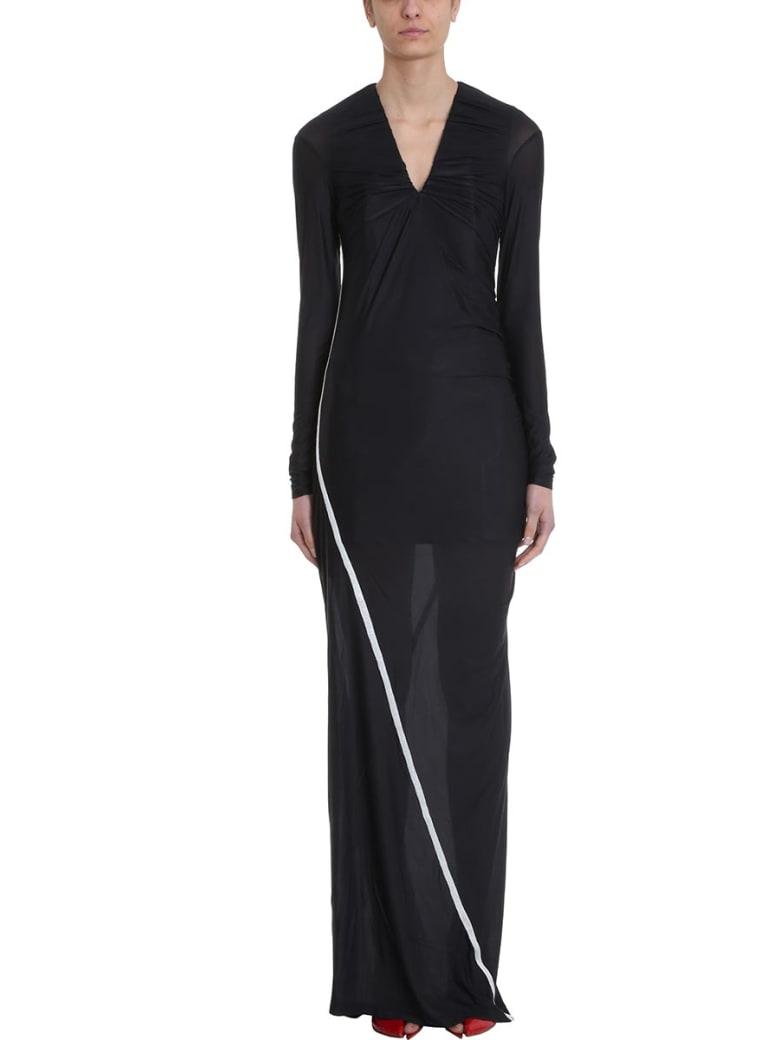 Y/Project Condom Contrast-trim Stretch Dress - black