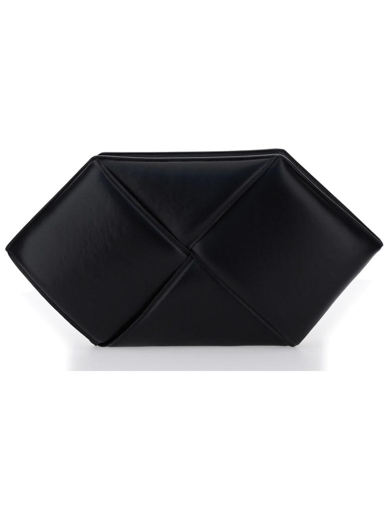 Bottega Veneta Intrecciato Zipped Clutch - Black/gold
