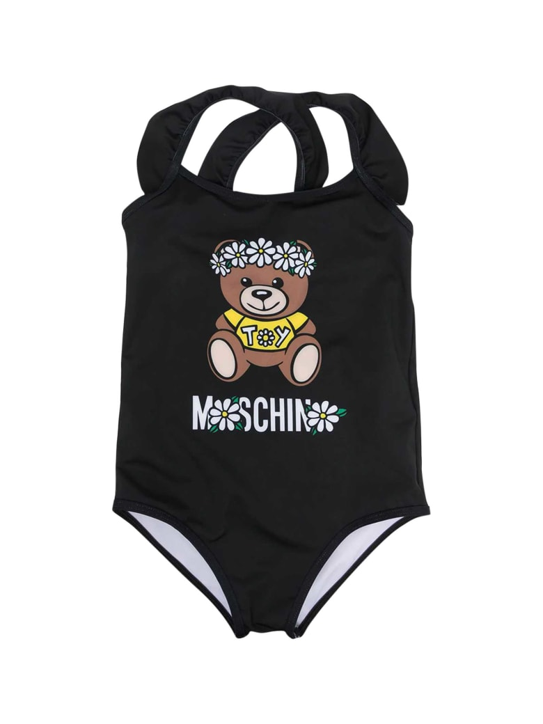 Moschino Black One-piece Swimsuit - Nero