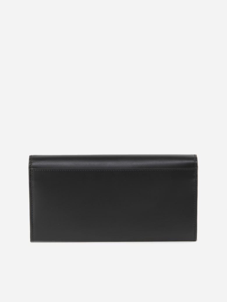 Fendi Continental Wallet In Calfskin - Black